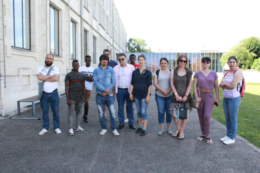 Visite guidée du Musée Bernard d'Agesci le 27/06/2018 avec les apprenants d'Alphabenn et du CADA France Terre d'Asile.