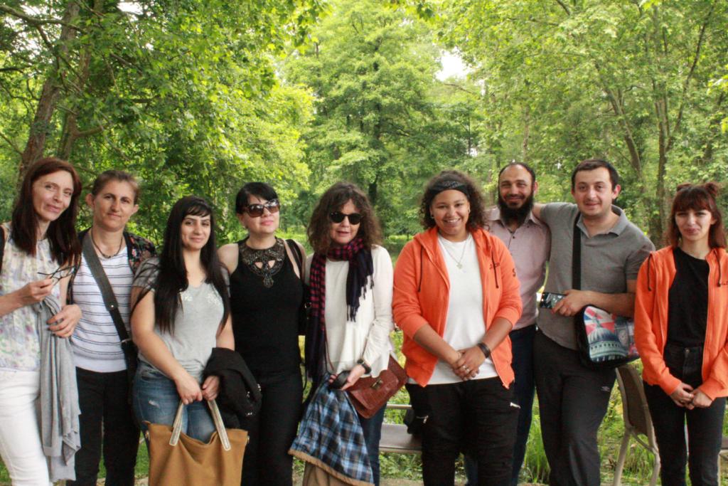 Sortie à la Roussille avec l'équipe des Ambassadeurs des transports, le 12/06/18.